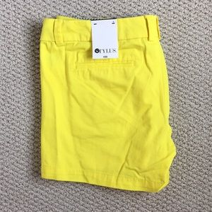 STYLUS Shorts - Yellow summer shorts